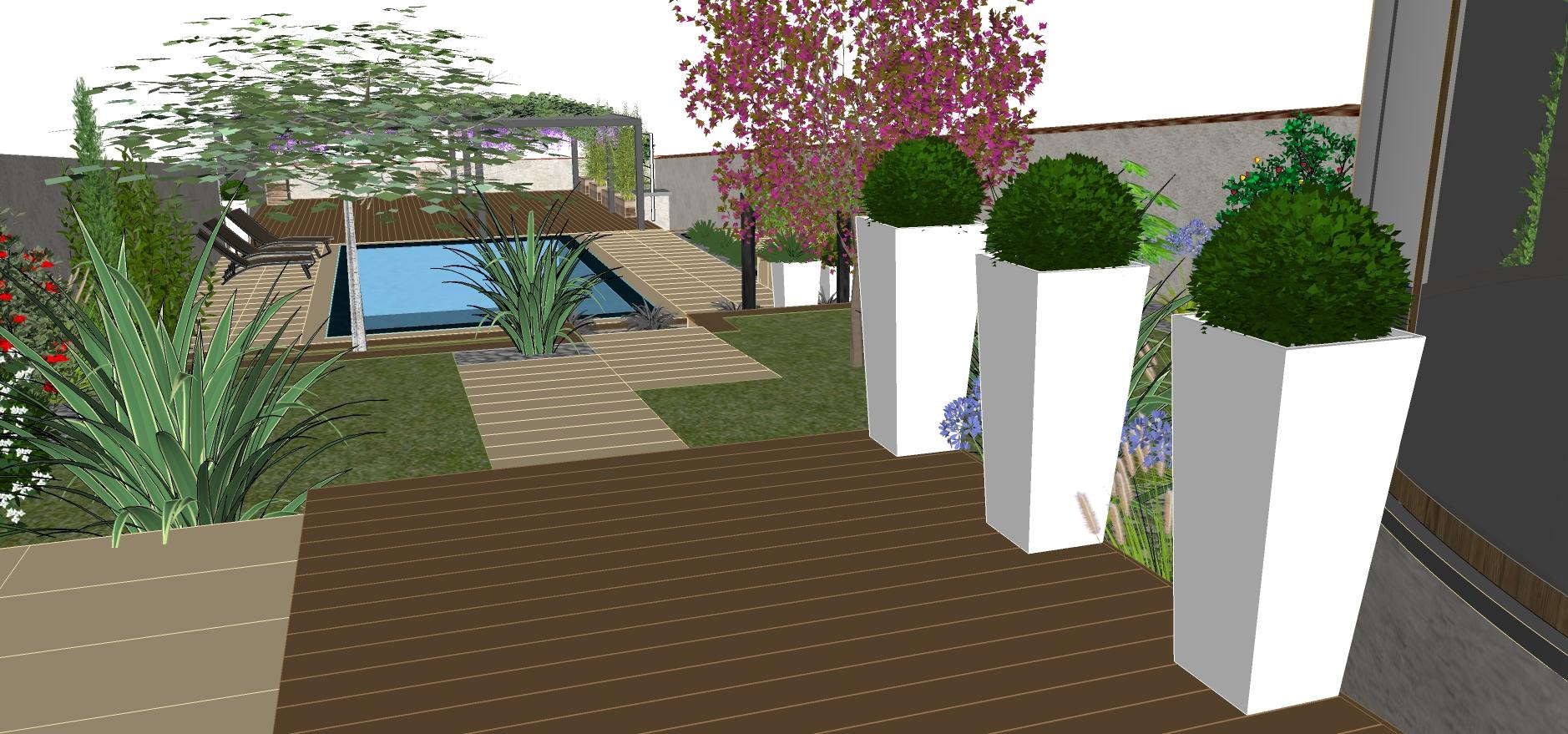 Conception De Jardin Avec Plan En D Dans Le Sud De Lyon With Logiciel  Gratuit Jardin 3d
