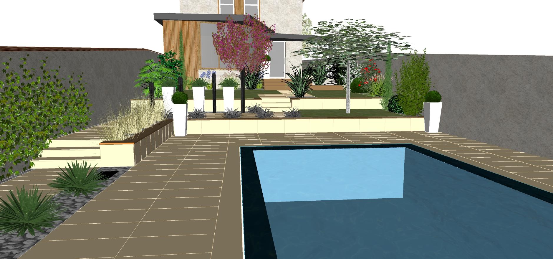 Conception 3d c t jardin for Entretien jardin 34