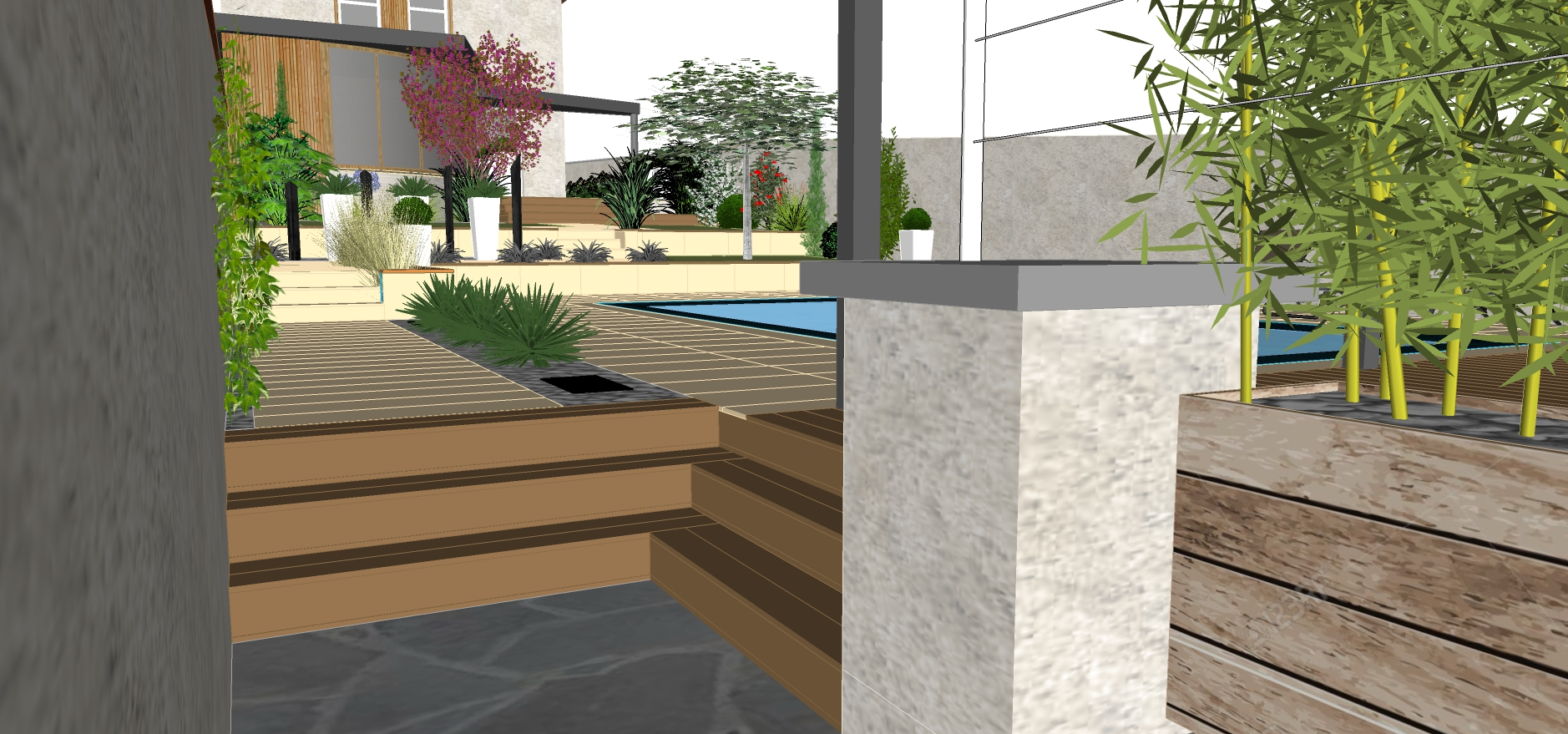 3d jardin paysagisme good architecte with 3d jardin for Architecte exterieur jardin