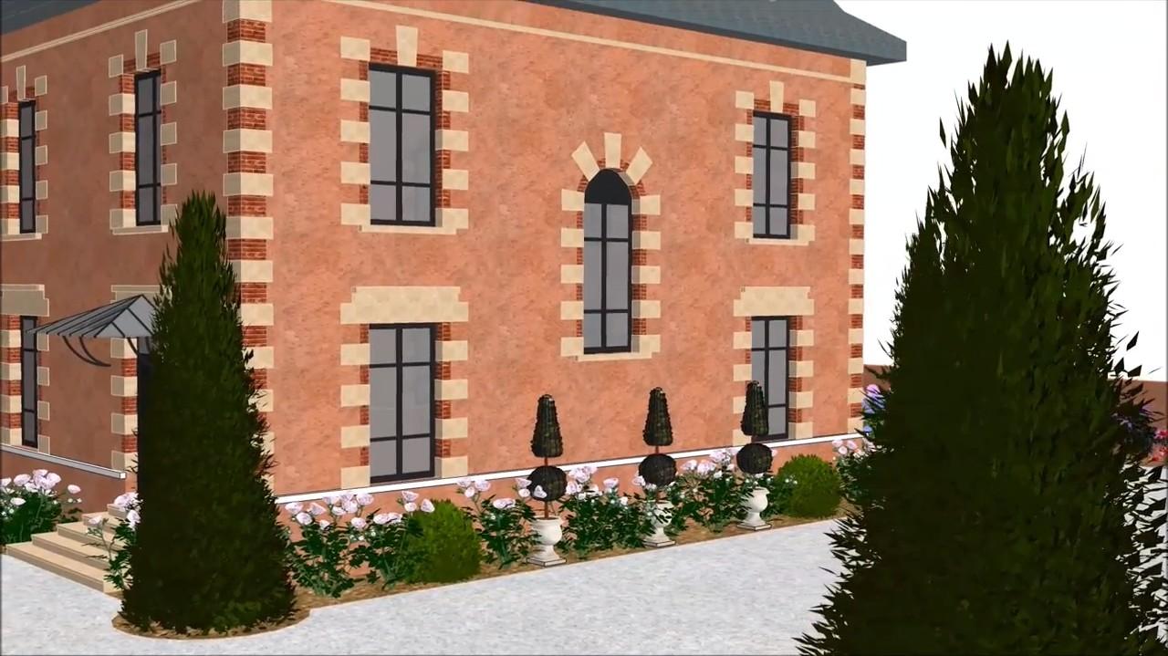 Conception 3d d 39 un jardin avec piscine dans les monts d 39 or for Conception jardin brest