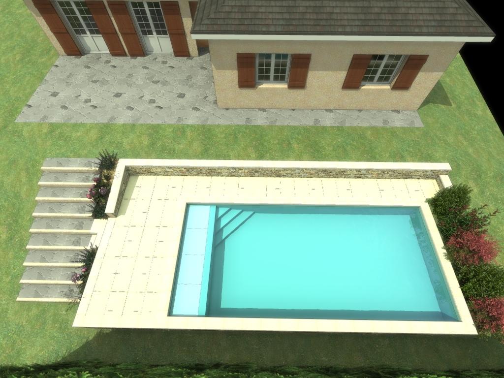 Mod lisation 3d de votre projet ext rieur avec piscine for Construction piscine 3d