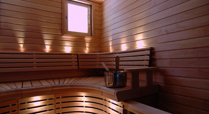 Construction de piscine avec parois en verre ou en inox for Sauna exterieur occasion